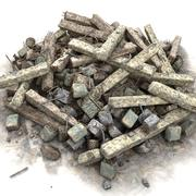 Büyük taş kaya enkaz ıvır zıvır çöp kazık 3d model