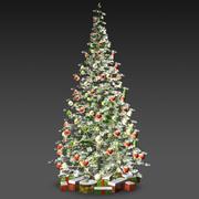 눈 덮인 크리스마스 트리 3d model