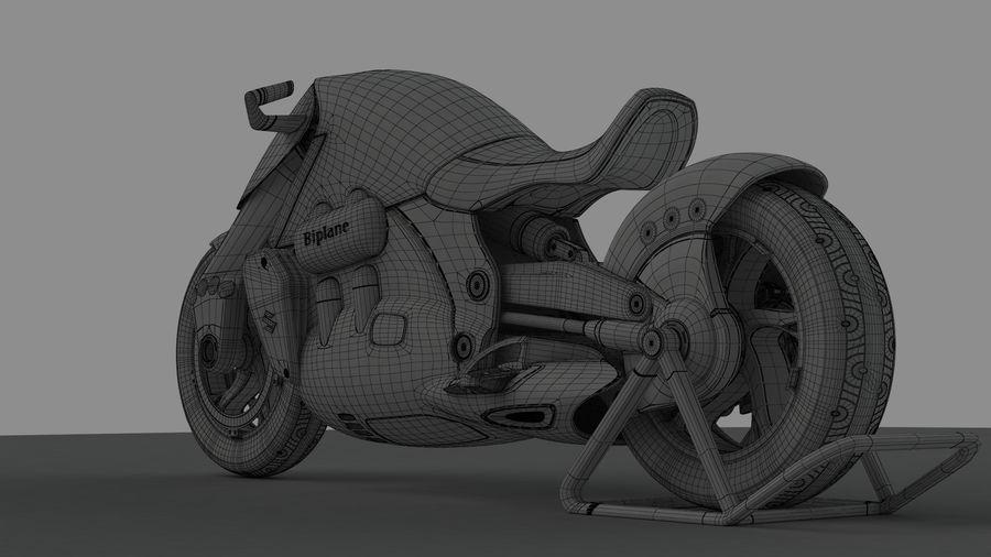 铃木双翼飞机(概念摩托车) royalty-free 3d model - Preview no. 15
