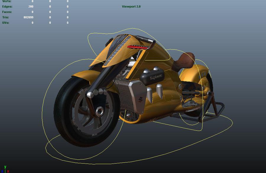 铃木双翼飞机(概念摩托车) royalty-free 3d model - Preview no. 12