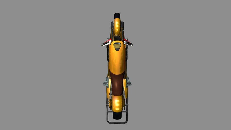 铃木双翼飞机(概念摩托车) royalty-free 3d model - Preview no. 11
