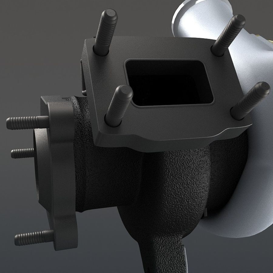 涡轮增压器 royalty-free 3d model - Preview no. 10