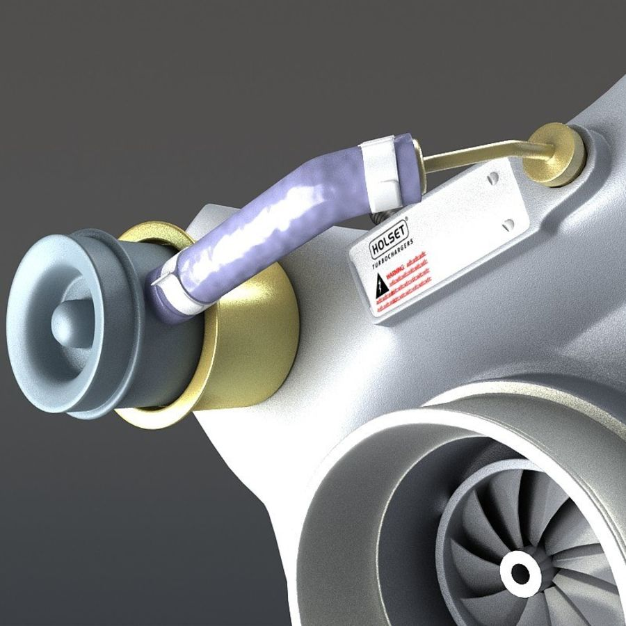 涡轮增压器 royalty-free 3d model - Preview no. 9