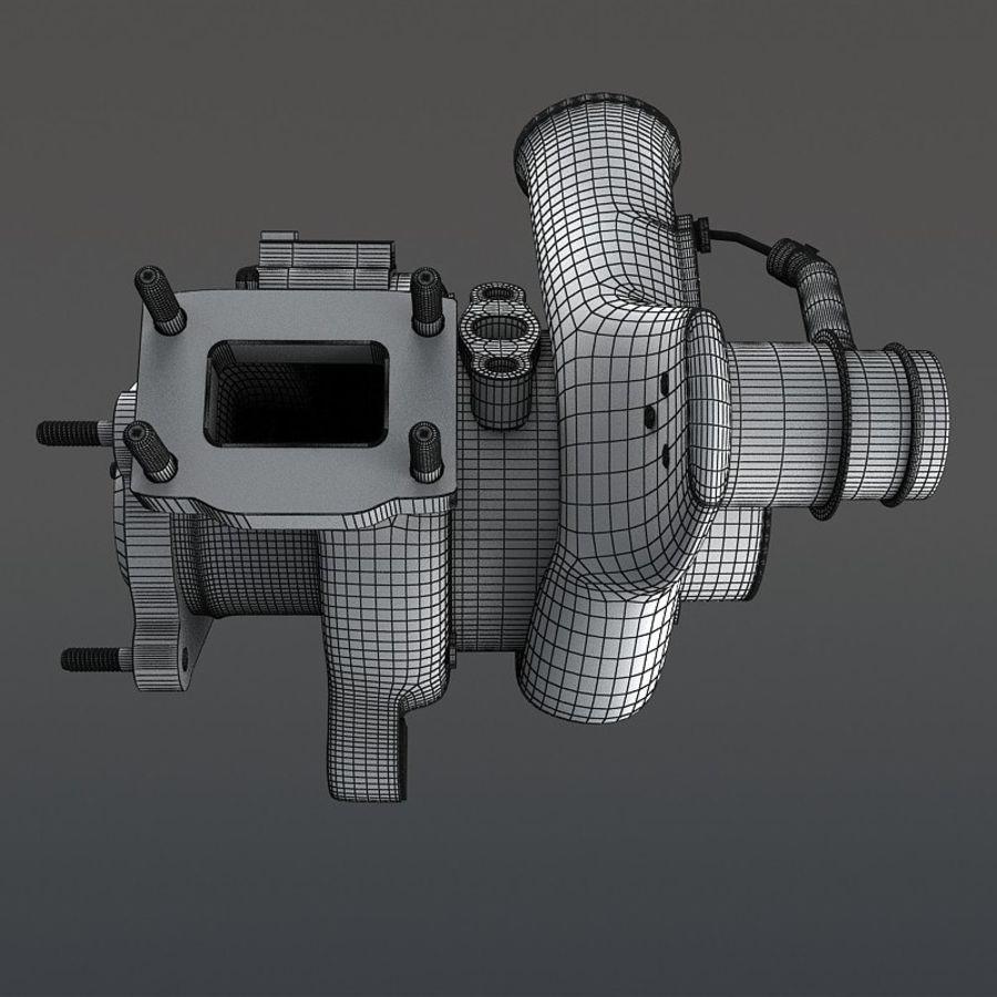 涡轮增压器 royalty-free 3d model - Preview no. 14