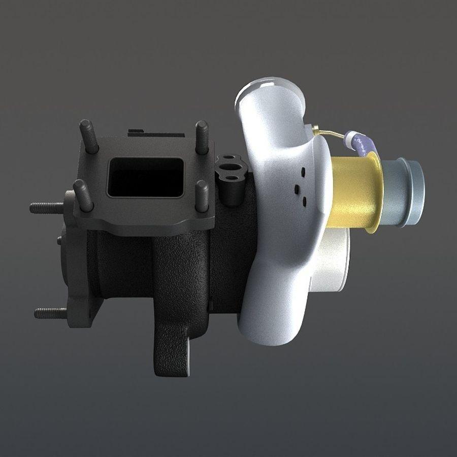 涡轮增压器 royalty-free 3d model - Preview no. 6