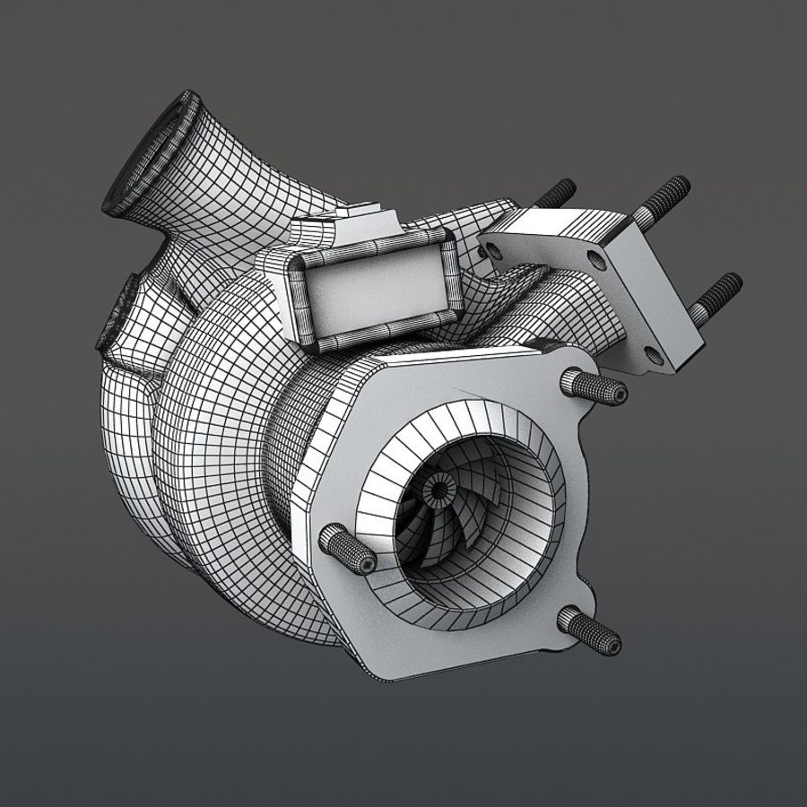 涡轮增压器 royalty-free 3d model - Preview no. 13