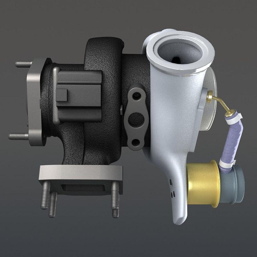涡轮增压器 royalty-free 3d model - Preview no. 11