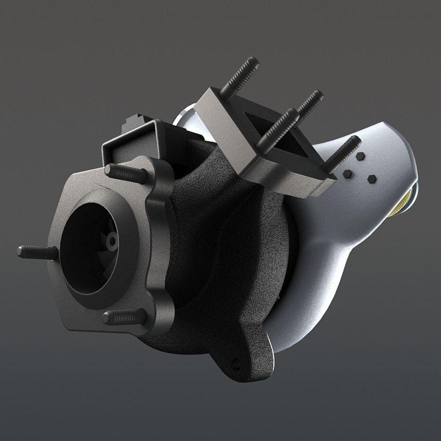 涡轮增压器 royalty-free 3d model - Preview no. 5