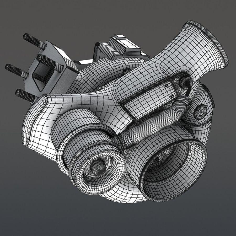 涡轮增压器 royalty-free 3d model - Preview no. 15