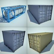 raccolta di container 3d model