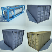 cargo container collection 3d model