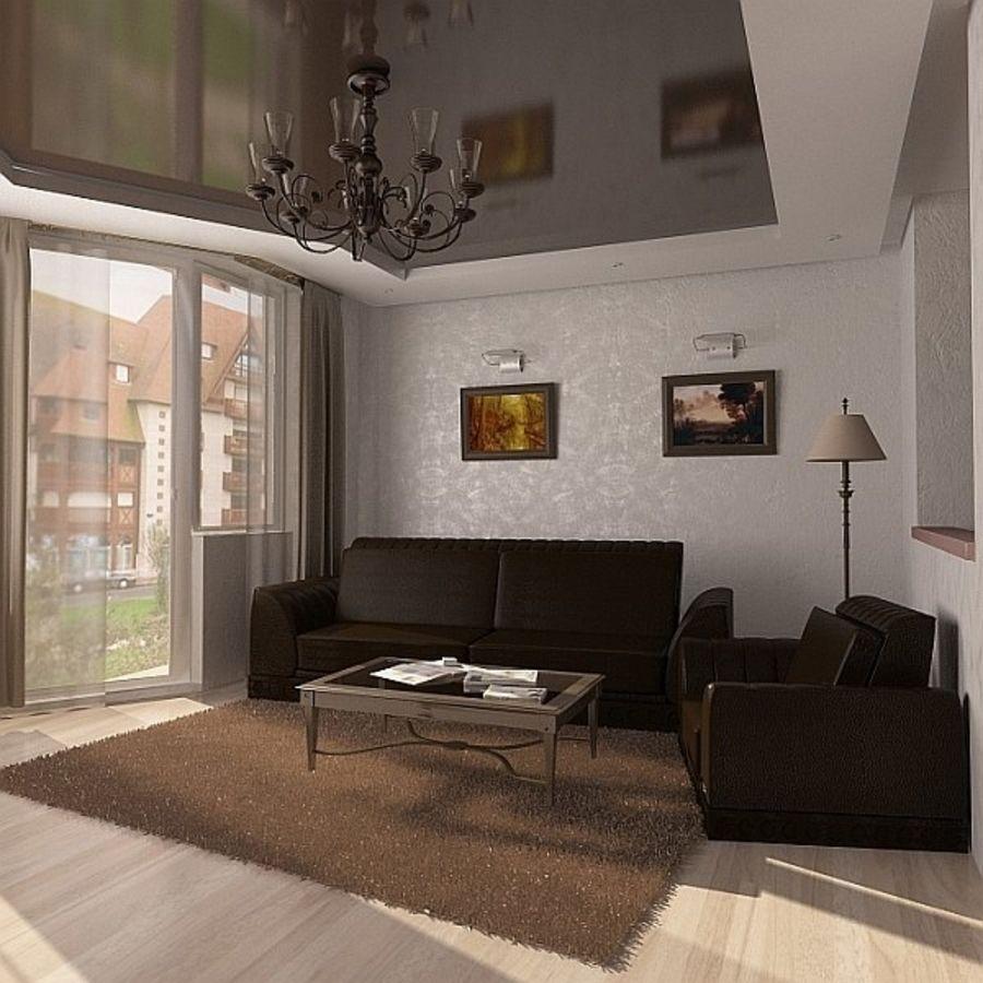Oturma odası royalty-free 3d model - Preview no. 3