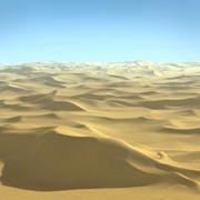 Pustynny krajobraz Sahary 3d model