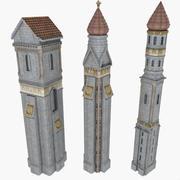 성 매너 타워 컬렉션 미 나 렛 등 대 집 세부 사항 낮은 폴 리 이국적인 페르시아어 교회 대성당 고궁 망명 기념물 역사 고전 고 대 역사적인 빈티지 건축 건축 로마 러시아 종교 종교적인 불가사의 기념 첨탑 r 3d model