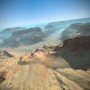 峡谷地形山脉 3d model
