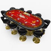 Casino - Poker - Red 3d model
