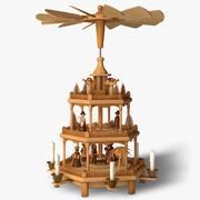 Rigged Christmas Decoration (Pyramid) 3d model