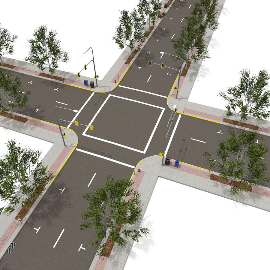 Городская улица royalty-free 3d model - Preview no. 15