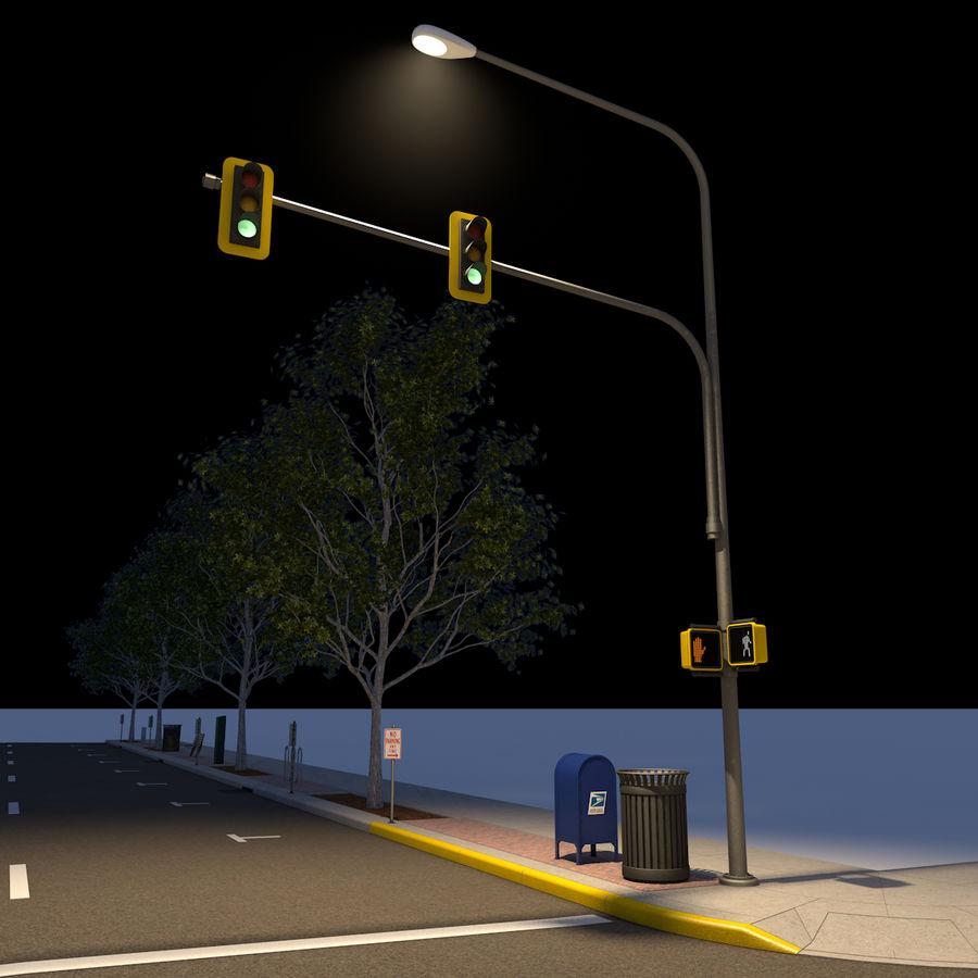 Городская улица royalty-free 3d model - Preview no. 32