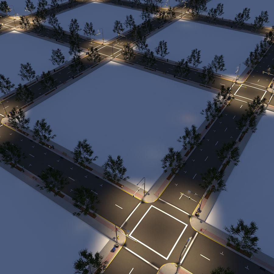 Городская улица royalty-free 3d model - Preview no. 18