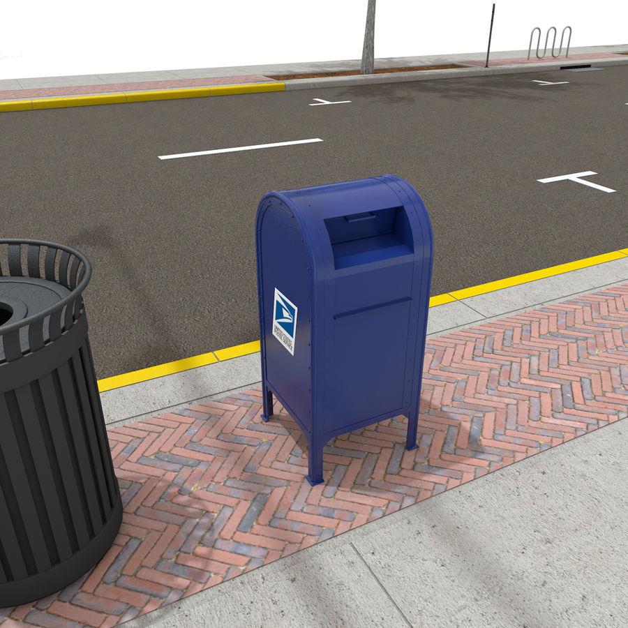 Городская улица royalty-free 3d model - Preview no. 29