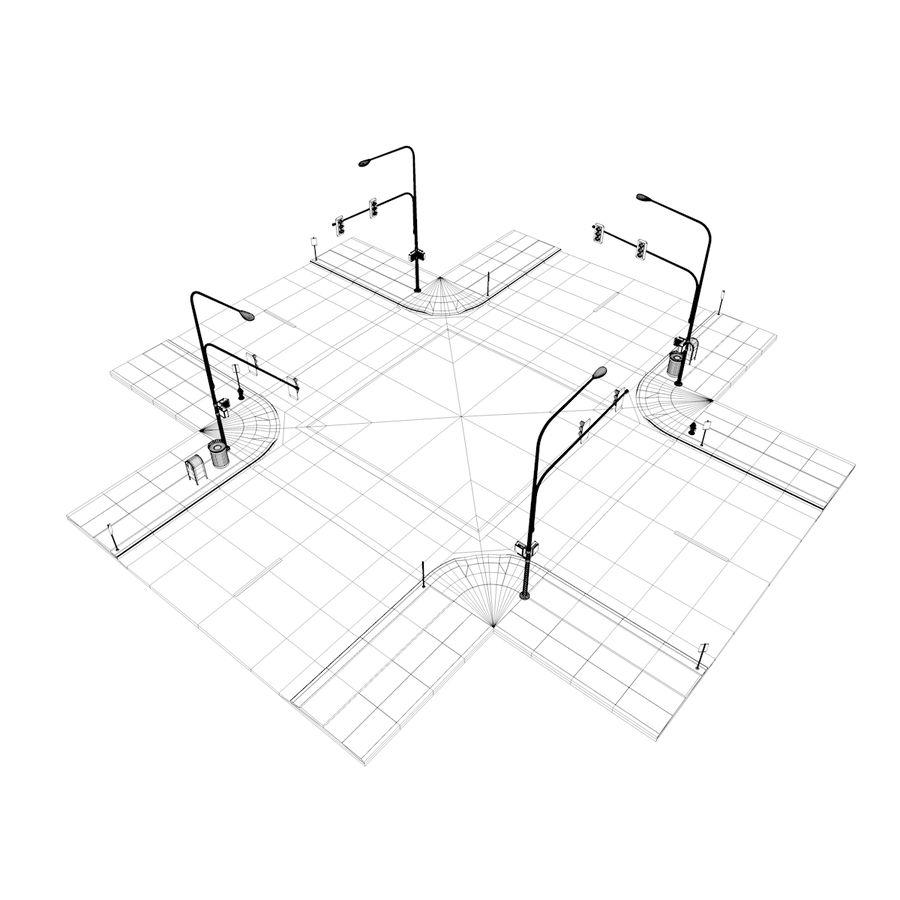 Городская улица royalty-free 3d model - Preview no. 40