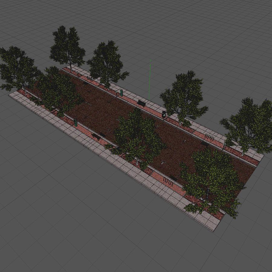 Городская улица royalty-free 3d model - Preview no. 20