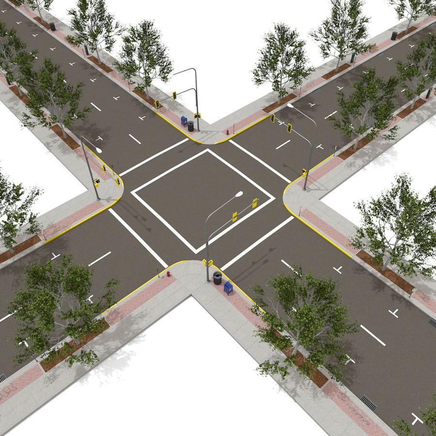 Городская улица royalty-free 3d model - Preview no. 14