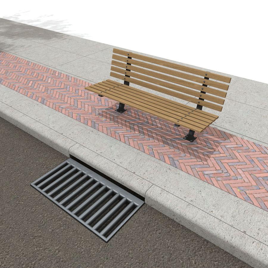 Городская улица royalty-free 3d model - Preview no. 25