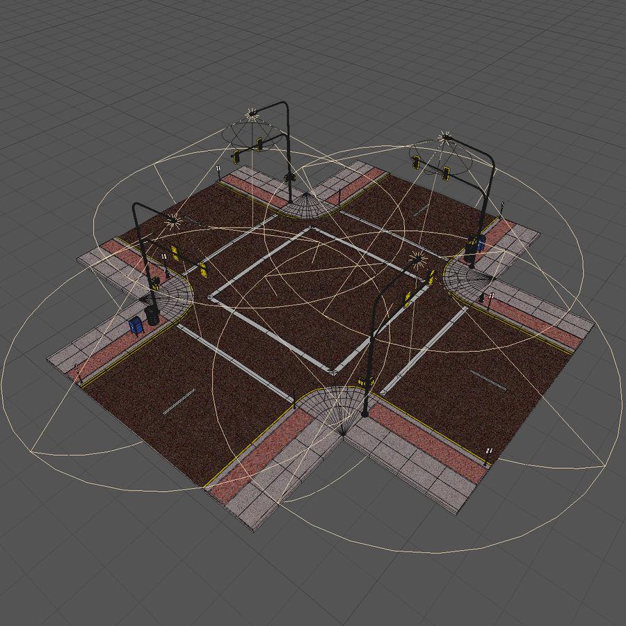 Городская улица royalty-free 3d model - Preview no. 22
