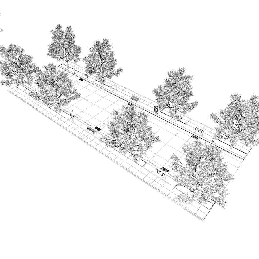 Городская улица royalty-free 3d model - Preview no. 41