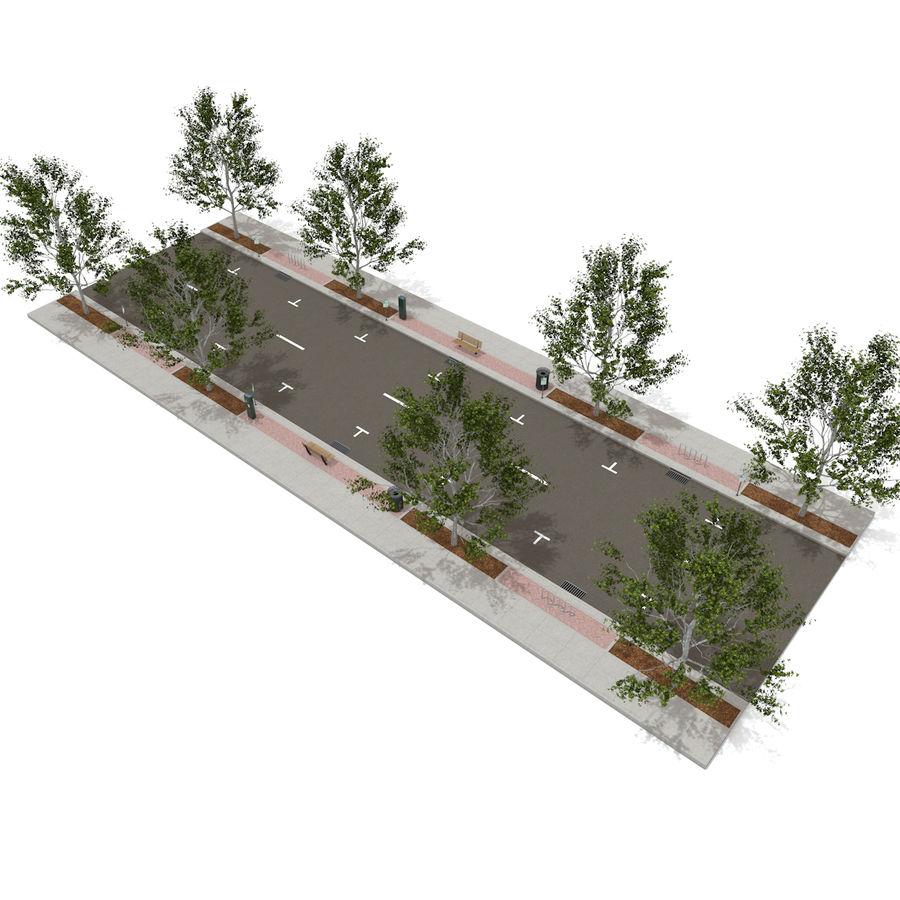 Городская улица royalty-free 3d model - Preview no. 19