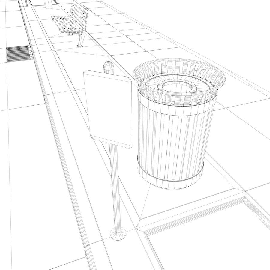 Городская улица royalty-free 3d model - Preview no. 42