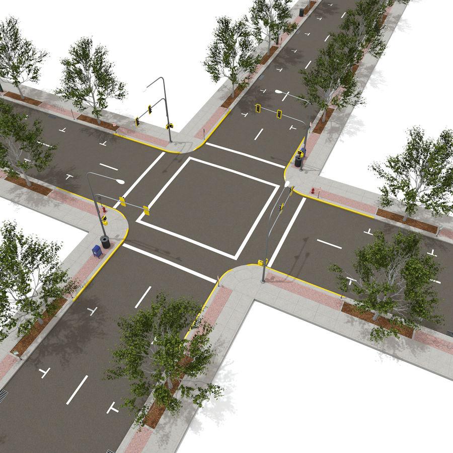 Городская улица royalty-free 3d model - Preview no. 5