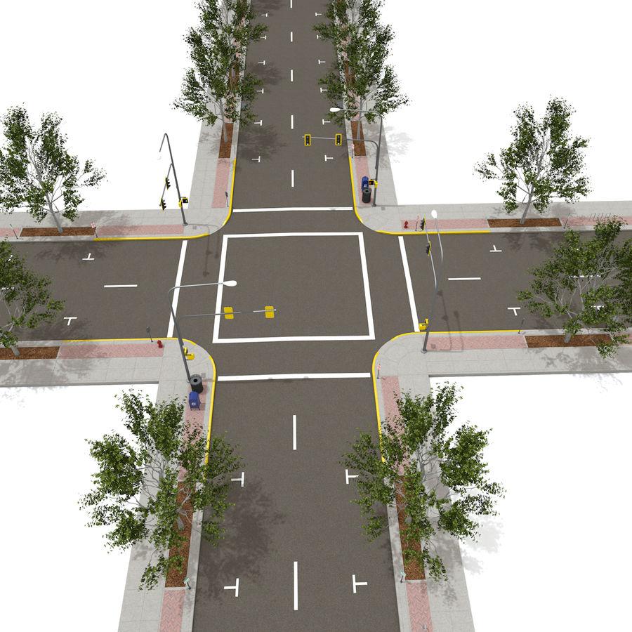 Городская улица royalty-free 3d model - Preview no. 6