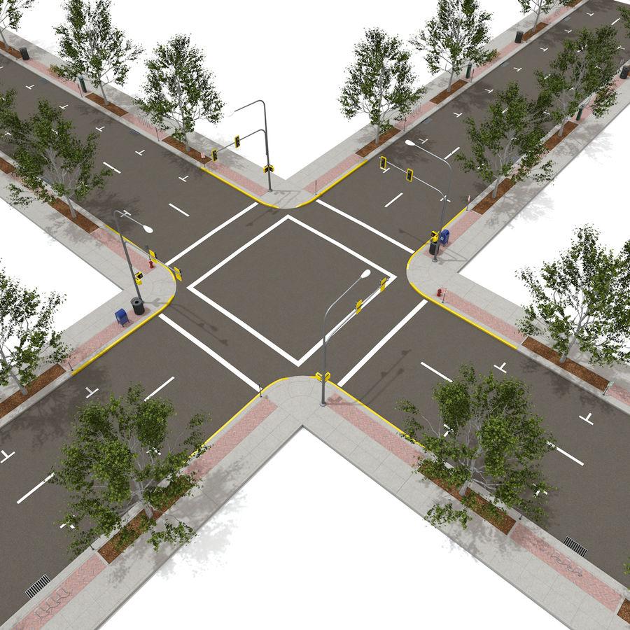 Городская улица royalty-free 3d model - Preview no. 11