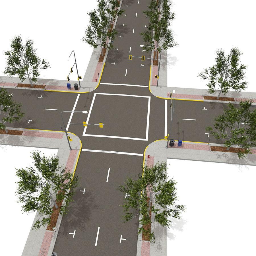 Городская улица royalty-free 3d model - Preview no. 2