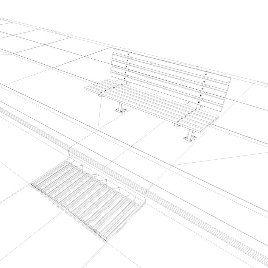 Городская улица royalty-free 3d model - Preview no. 33