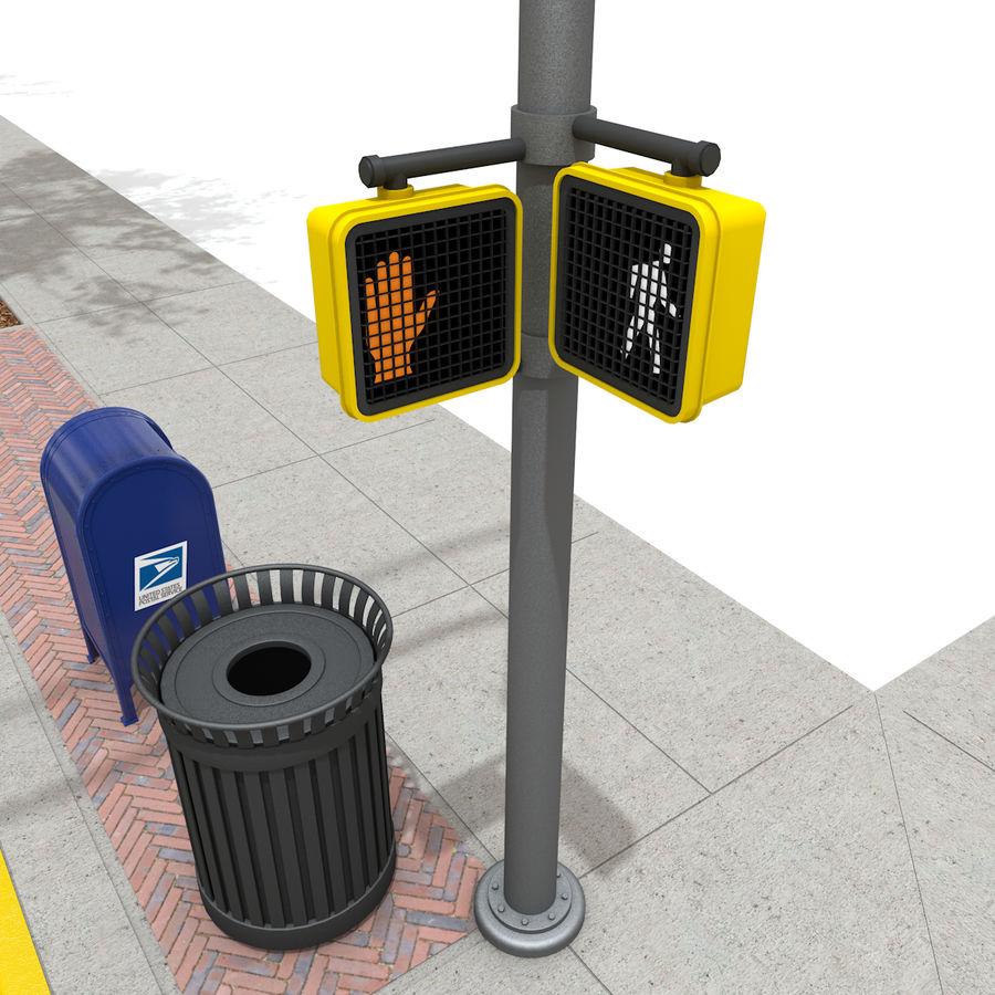 Городская улица royalty-free 3d model - Preview no. 30