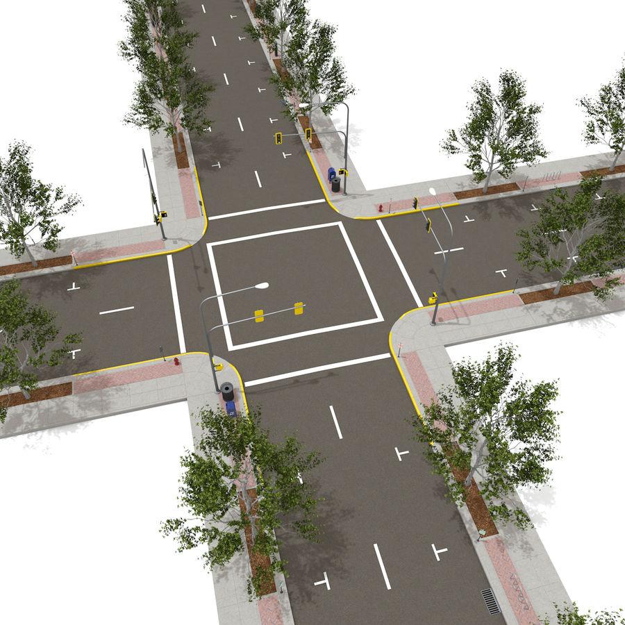Городская улица royalty-free 3d model - Preview no. 13