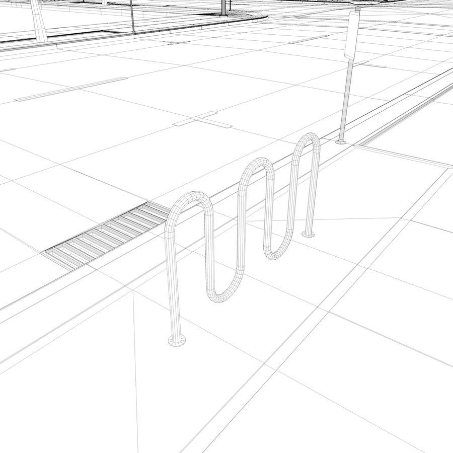 Городская улица royalty-free 3d model - Preview no. 35