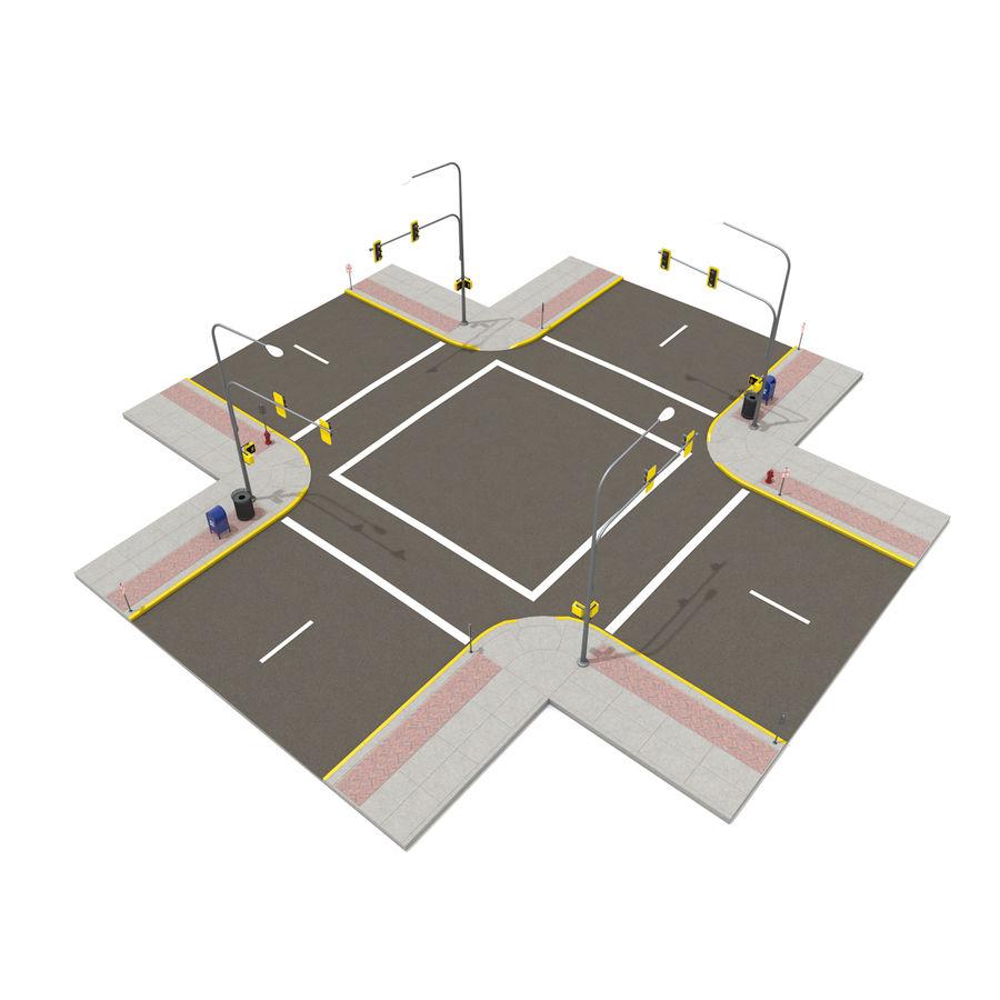 Городская улица royalty-free 3d model - Preview no. 21