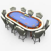 Casino - Poker - Blue 3d model