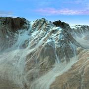 Montaña Terreno Paisaje Nevado modelo 3d