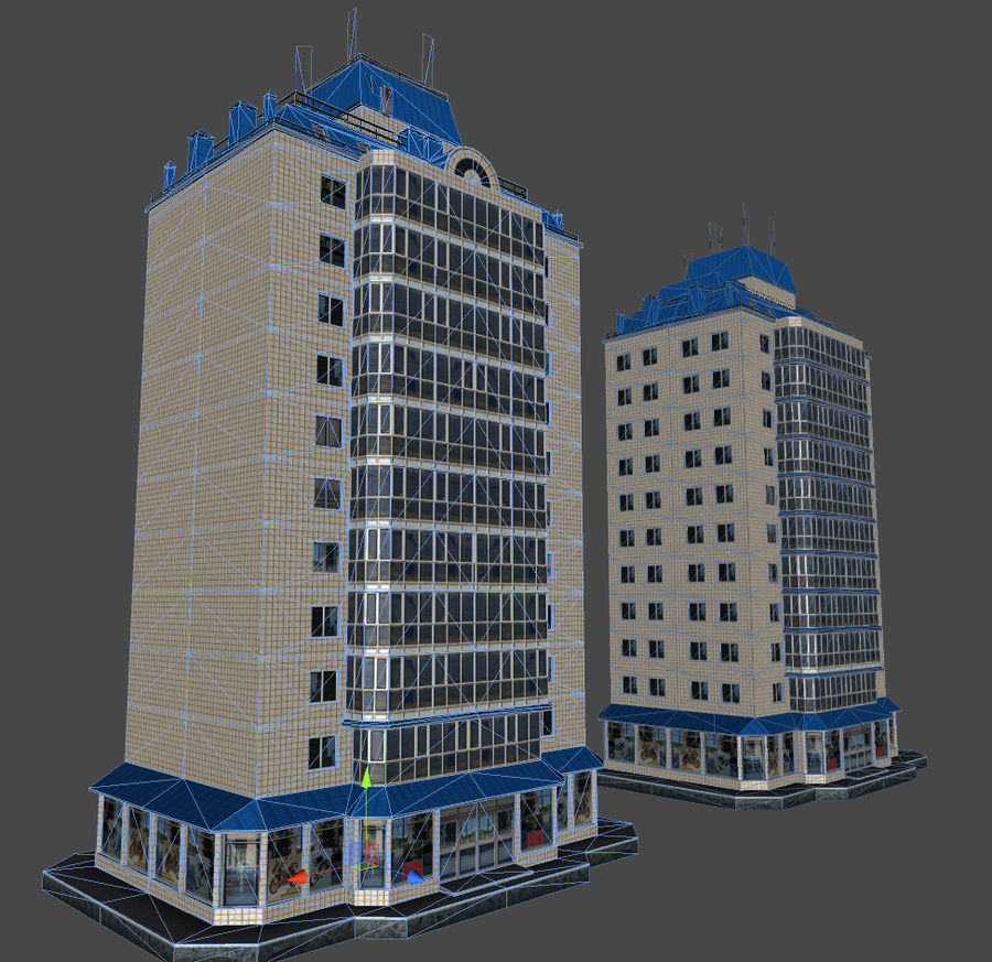 都市の建物 royalty-free 3d model - Preview no. 33