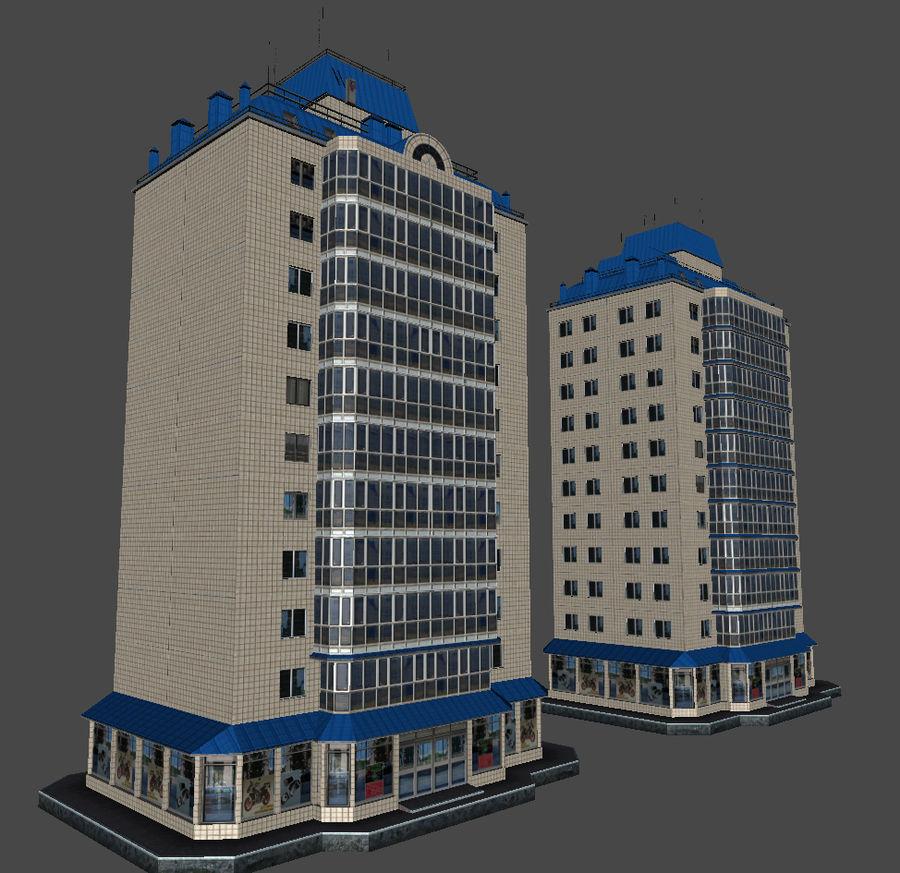 都市の建物 royalty-free 3d model - Preview no. 32
