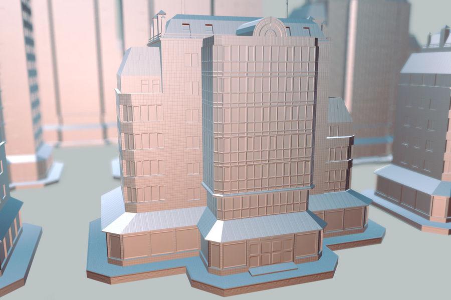 都市の建物 royalty-free 3d model - Preview no. 19