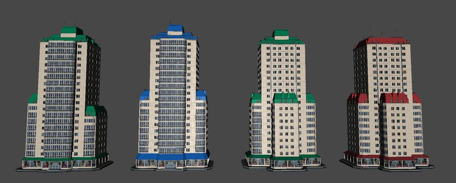 都市の建物 royalty-free 3d model - Preview no. 31