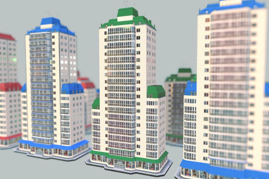 都市の建物 royalty-free 3d model - Preview no. 17