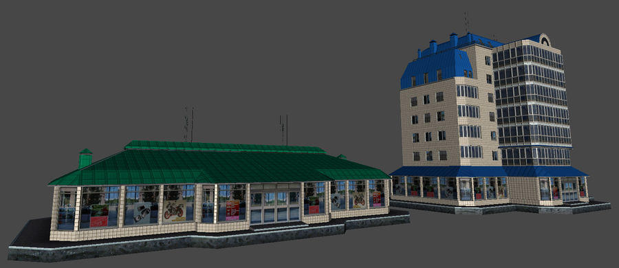 都市の建物 royalty-free 3d model - Preview no. 41